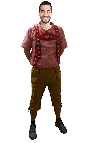 Seruna Oktoberfest-Kostüm, F119 Gr. L-XXL, Bayer-Kostüme Oktoberfest-Kostüme Männer-Faschingskostüm, Fasching Karneval, traditionelle Faschings-Kostüme, Geburtstags-Geschenk Erwachsene