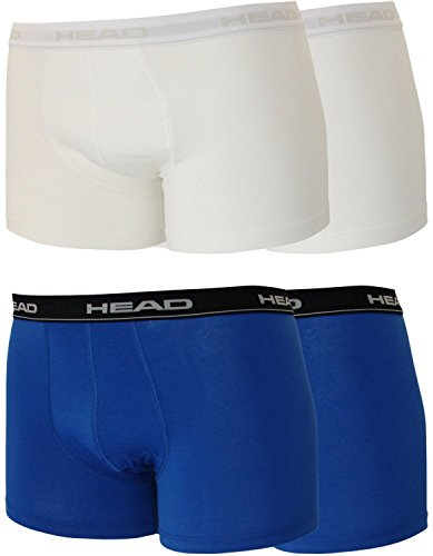 Head 4er Pack Herren Boxershorts Sparpack ohne Eingriff 841001001 (2er blau(021)/2er weiß(300), S)