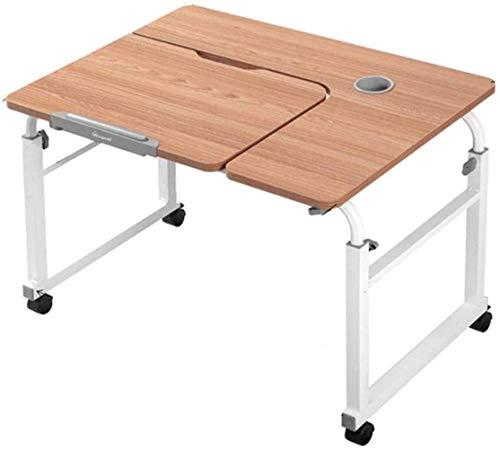 HLY Mesa perezosa, escritorio de computadora, escritorio de cama cruzada, se puede mover, puede levantar mesa para computadora portátil, sala de estar, dormitorio, duradero,B