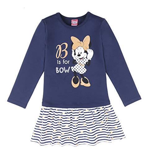 Disney niñas Minnie Mouse Vestido, Azul, Talla 98, 3 años