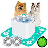 AILUKI Katzen Trinkbrunnen Wasserbrunnen für Haustier Wasserspender Hunde Katzentrinkbrunnen Katzenbrunnen