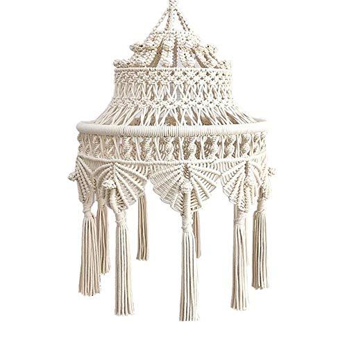 zenggp Lange Makramee Gewebt Kronleuchter Dekorativen Lampenschirm Restaurant Schlafzimmer Mandala Laterne Wandbehang