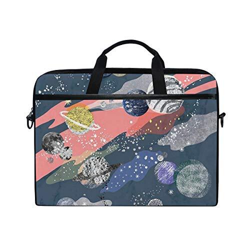 CPYang Laptop Bag Abstract Solar System Planet Computer Laptop Case Notebook Laptop Shoulder Messenger Bag Sleeve for Boys Girls Women Men