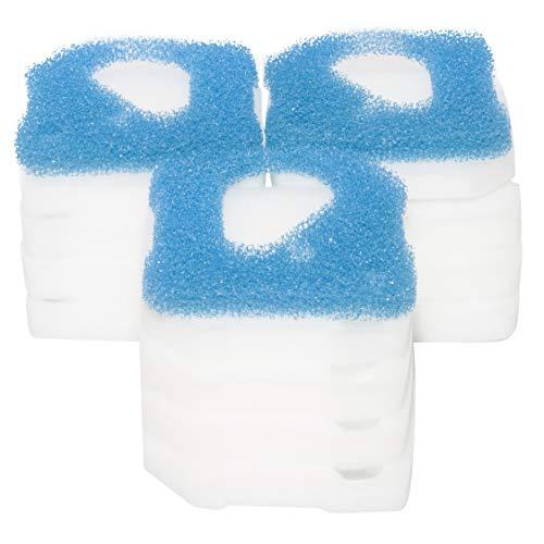 LTWHOME Filterschwamm Passend für Eheim Professional 4 250, 250T, 350, 350T, 600 und Pro 4e 350(3 x Blau+ 12 x Weiß)