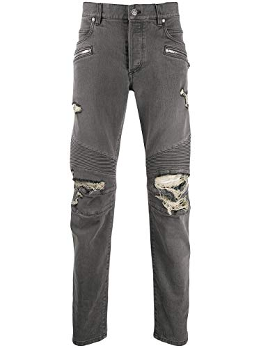 Luxury Fashion | Balmain Heren TH15428Z0759AA Grijs Katoen Jeans | Lente-zomer 20