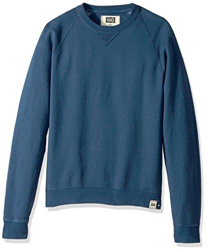 Hanes Men's 1901 V-Notch Raglan Sweatshirt, Indigo Batik Blue, Large