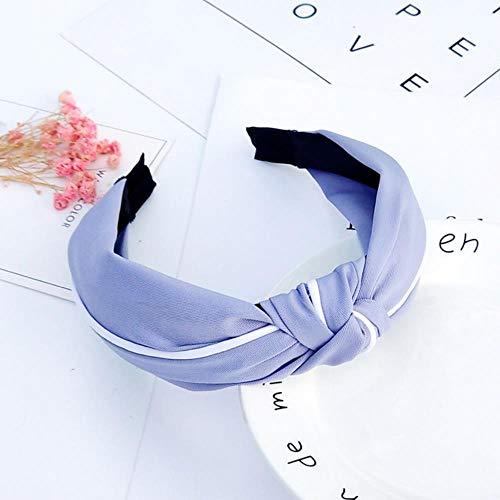 YLA einfarbige Haarbänder für Frauen Kreuzknoten Bogen weiß Seite Stirnband Mädchen Sport Gesicht waschen Haarschmuck, BBFG6