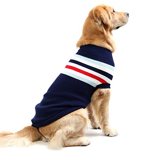 Coltrui Gebreide Hond Trui Streep Huisdier Grote Honden Sweatshirts Pullover Katten Jassen Kleding