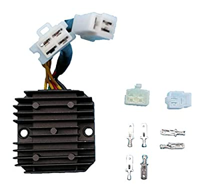 Tuzliufi Replace Voltage Regulator Rectifier Honda CB CM 400 450 450E Hawk Hondamatic Twin Custom Nighthawk CMX 250 Rebel FT GB 500 Ascot 1978-1983 1985-1987 1989 1990 1996-2016 31600-413-008 New Z67