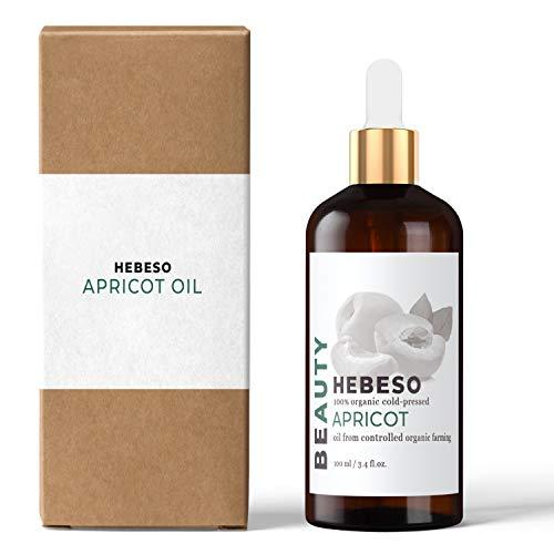 Aprikosenkernöl 100% Rein & Natürlich Kaltgepresst 100ml | Schnell absorbierendes, leichtes Öl | Erste Wahl für Massagen | Reduziert dunkle Ringe und geschwollene Augen | Schönes Haar, das nicht fettet