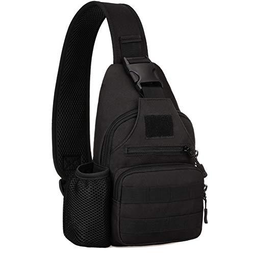 Scelet Outdoor-Sport Brust Rucksack Taktische Schulter Diagonal Rucksack Mit USB-Aufladung Freizeittasche Wasserkocher Rucksack Reise Wandern