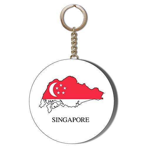 Gift Insanity Flaschenöffner mit Singapur-Flagge in Karte, 58 mm
