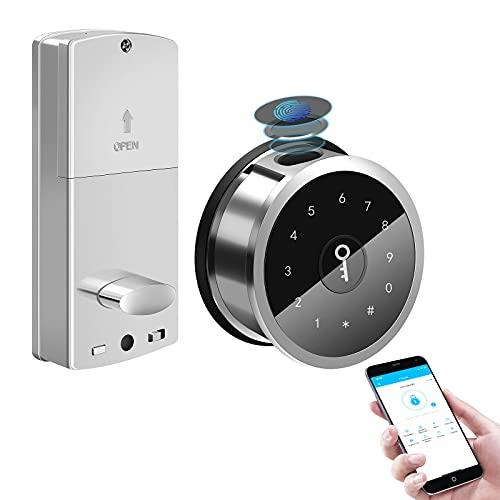 Smart Deadbolt, Smart Lock Front Door,Bluetooth Keyless Entry Door Lock, Smart Door Lock Fingerprint, Digital Keypad Deadbolt Lock,Smart Locks Deadbolt Electronic,Auto Locks,App Control,App Monitoring