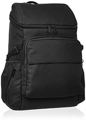 Amazon Basics – Stadtrucksack aus Leinen, für Laptops bis 38 cm (15 Zoll), schwarz