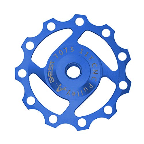 DEBAIJIA Trasero de Desviador Jockey Rueda 11T Polea de Cambio Trasero Guía Polea Aleación de Aluminio Cojinetes sellados Accesorios para Ciclismo de Montaña Bicicleta - Azul