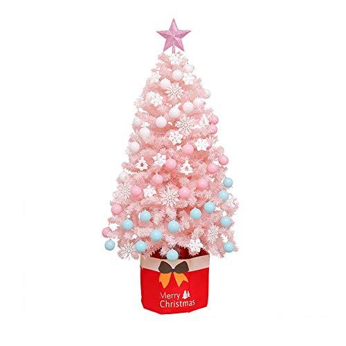 HHORD 60/120/150/180 / 210cm Rosa árbol de Navidad con Patas de Metal,...