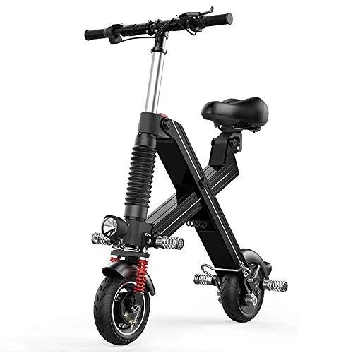 Opvouwbare elektrische step, aangedreven door lithium-batterij, aluminium legering, gemakkelijk te dragen, 20,5 mijl bereik, ophanging achter en maximale snelheid van 12,4 uur.