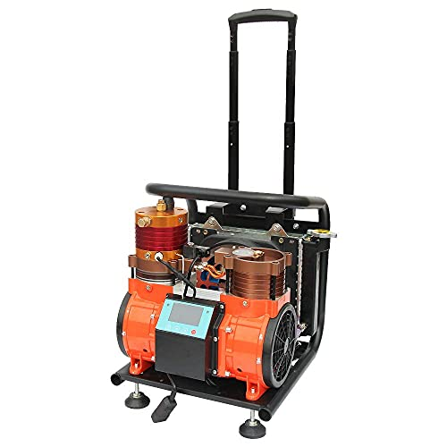 HPDAVV Oil-Free High Pressure Air Compressor 1.5 KW / 2 HP - 110v / 60Hz - 2.1cfm @ 4500 Psi - Scuba Tank/PCP Rife/Paintball Air Gun Filling Station Air Breathed Directly