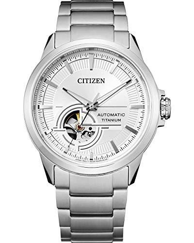 CITIZEN Herren Analog Automatik Uhr mit Super Titanium Armband NH9120-88A