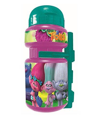 Trolls - Botella con soporte, color rosa, talla única