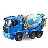 PBTRM 1/20 Mezclador Hormigón Camión Ingeniería Juguete, Hormigonera Simulación Cemento Fricción Coche Vehículo Regalo para Niños
