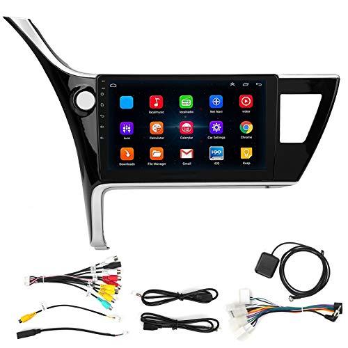 KIMISS Car Multimedia Player, 10in Car MP5 Player 1 + 16GB WIFI Bluetooth Navegación GPS Pantalla táctil digital Audio apto para 2017-2018