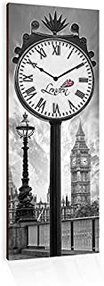 Lupia Clockart Orologio da Parete London's Clock, Legno, 30x80x1 cm