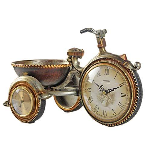 Retro Fahrraduhr, Thermometer Home Decoration Clock, Desktop Clock, Uhrwerk, Desktop Wecker für Ihre Eltern, Freunde, Kinder kostbarsten Geschenke