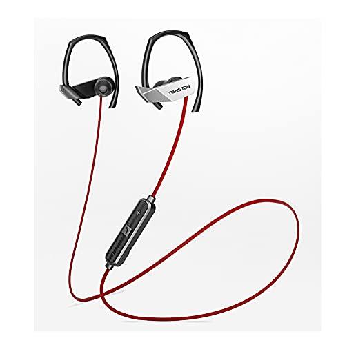Firwood Auriculares Bluetooth 5.0, Auriculares Inalámbricos, IPX Sweatrable, Auriculares Magnéticos De Banda De Cuello con 3-5 Horas De Tiempo De Juego,Blanco
