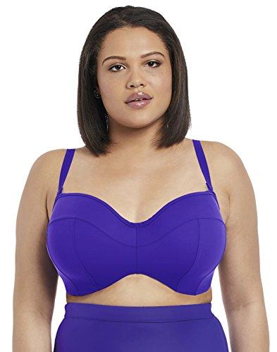 Elomi Plus Size Essentials Bandeau Bikini Top, 44E, Indigo
