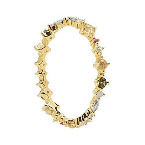 PDPAOLA - Anillo Papillon - Plata de Ley 925 Bañada en Oro de 18k - Joyas para Mujer