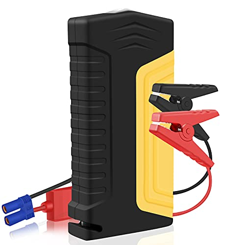 LifBetter Arrancadores de batería de coche 50800 mAh 12 V portátil Banco de energía batería de coche Booster Pack USB, cargador de coche, linterna LED, viaje camping coche Jump Starter Set manual