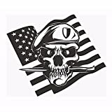 Skull Dagger Flag Zombie Soldier Mercenary Logo Punk Death Vinilo Etiqueta de la pared Calcomanía para coche Dormitorio de niño Sala de estar Club Sala de juegos Decoración para el hogar Mural