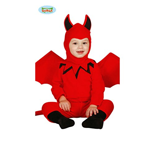 NET TOYS Disfraz Bebé Diablo - 6 - 12 Meses, 82 - 83 cm | Disfraz Infantil Demonio | Traje Niño Diantre | Outfit Diablito