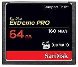 A SanDisk CF 64gb memory card