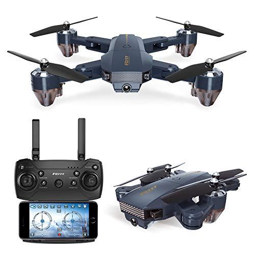 Lily FQ35 Drohne Falten Quadcopter Luftaufnahmen Mini-Fernbedienung Flugzeug Spielzeug HD WiFi Echtzeit-Videos,Blau,30W