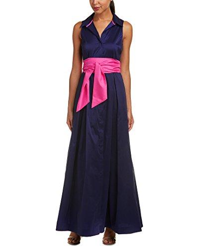 Eliza J Women's Solid Shirt Dress, Navy, 18