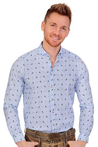 PURE Trachten Trachtenhemd - JANERIC - hellblau, hellgrau