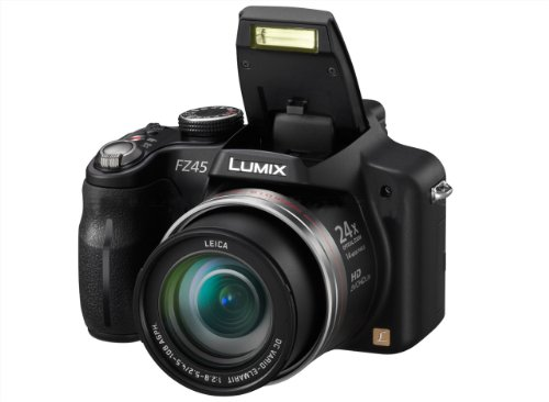 Panasonic Lumix DMC-FZ45EG-K Digitalkamera (14 Megapixel, 24-fach opt. Zoom, 7,5 cm (3 Zoll) Display, Bildstabilisator) schwarz