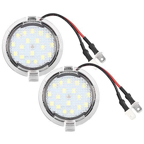 Qiilu 5W 12V 1 par blanco LED brillante espejo retrovisor del coche luces de charco aptas para Mustang Mondeo Mk5