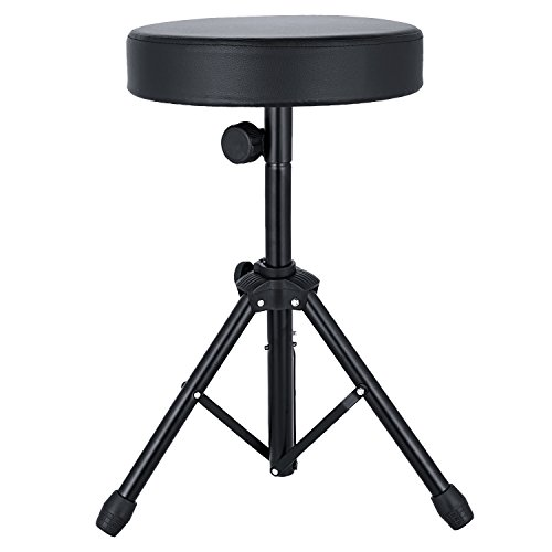 Anfan Universal Drum Throne Adjustable Padded Drum Stool with Anti-Slip Feet for Adults and Kids