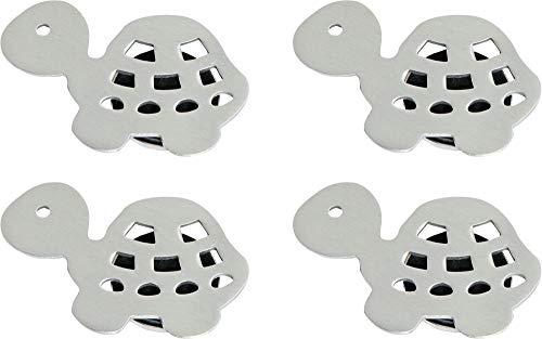 Tischtuchbeschwerer 4er-Pack silber