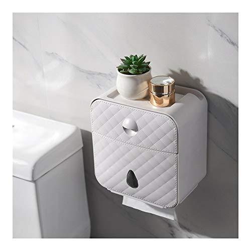 XYHCS Papel higiénico Titular Pared Impermeable sostenedor de la Toalla de Papel instalada WC Rollo de Papel del Soporte del Tubo de la Caja de almacenaje Accesorios de baño