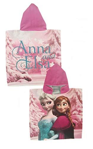Toalla Poncho Frozen Disney Microfibra Elsa Anna 50x100cm