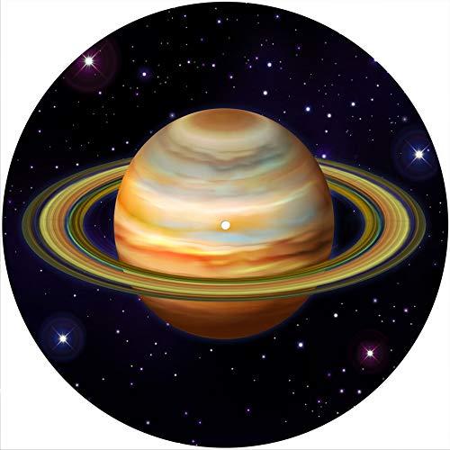 Saturn 1 Slipmat Rutschmatte/Kratzmatte aus Filz für jeden 30,5 cm LP DJ Vinyl Plattenspieler