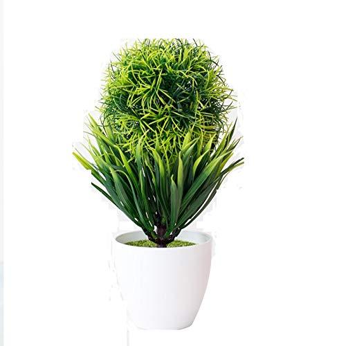 WUHUAROU Künstliche Blumen Bonsai Kunstpflanze Gefälschte Topfpflanze Löwenmaul Kleiner Baum Plastikblume Grüne Pflanze Gefälschte Blume für Dekoration Ornamente 25 x 16cm -Grün