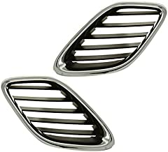 Koolzap For NEW 03-07 Saab 9-3 Front Face Bar Grill Grille Assembly Left Right Side SET PAIR