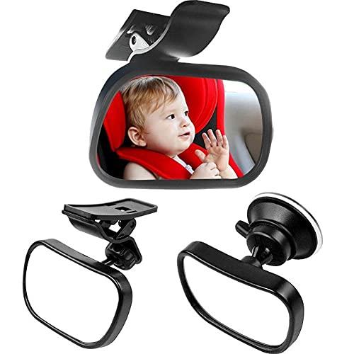 UTOBY Baby Rückspiegel Sicherheitsspiegel Rücksitzspiegel Einstellbare Autospiegel Baby mit Saugnäpfe und Klamme 360°Schwenkbar Spiegel Car Rückspiegel fürs Baby Kinder