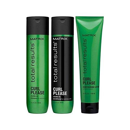 MATRIX TOTAL RESULTS Curl Please Shampoo 300ml + Balsamo 300ml + Contouring Lotion 150ml