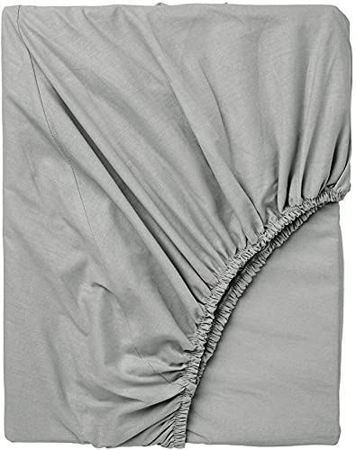 Exotic Cotton Sábana Bajera Ajustable 100% Algodón - Bajera con Goma Elástica para Colchón - Suave y sin Pérdida de Color Tras Lavado (Gray, Cama de 180/200)